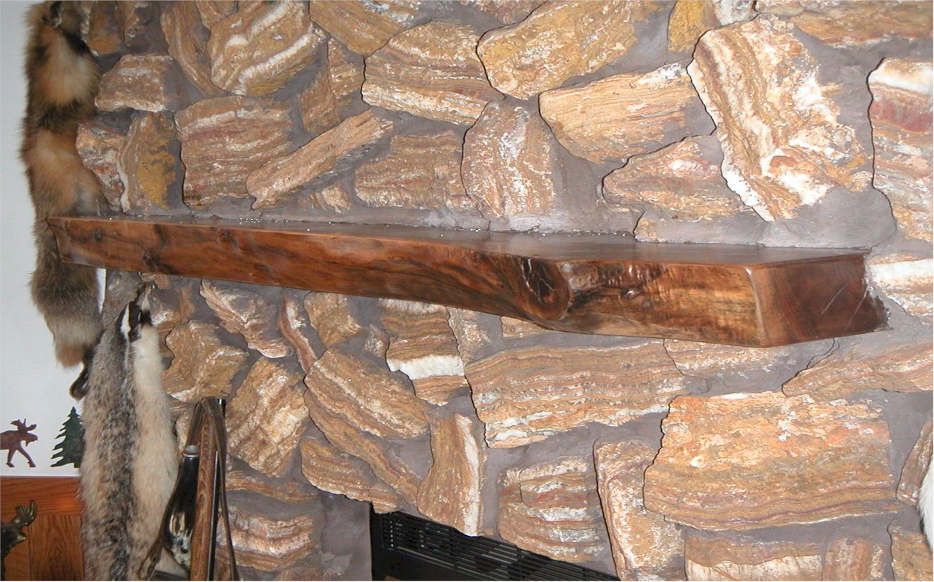 Log Style Fireplace Mantels - Hardwood - Hartford, WI